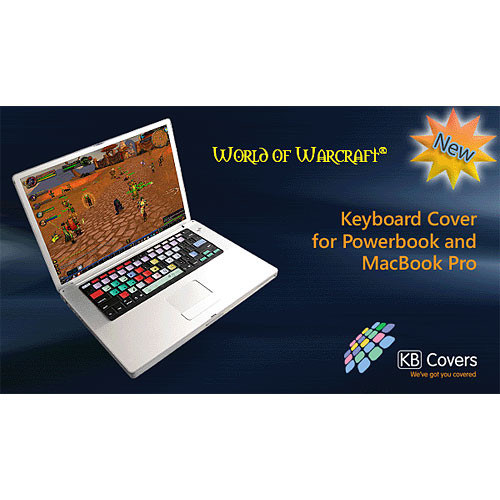 "KB Covers WOW-P-BC World of Warcraft Keyboard Cover for the Powerbook G4 (12, 15 & 17"") and the MacBook Pro (15 & 17"")"