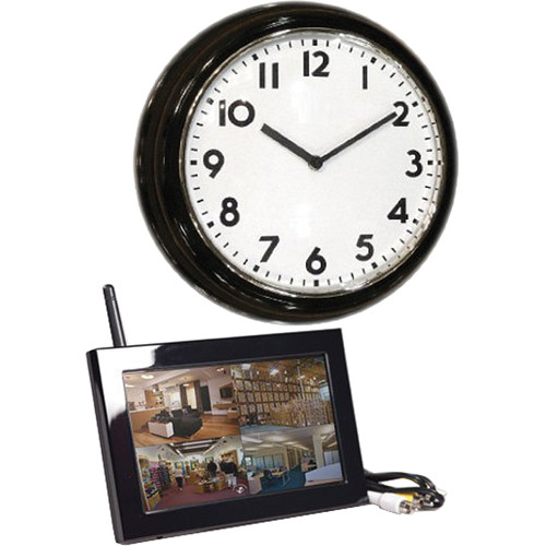 KJB Security Products C1510 Zone Shield Wireless Wall Clock with QUAD LCD Receiver