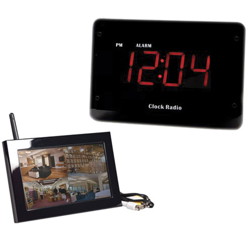 KJB Security Products C1520 Zone Shield Night Vision Clock Radio with QUAD LCD Receiver