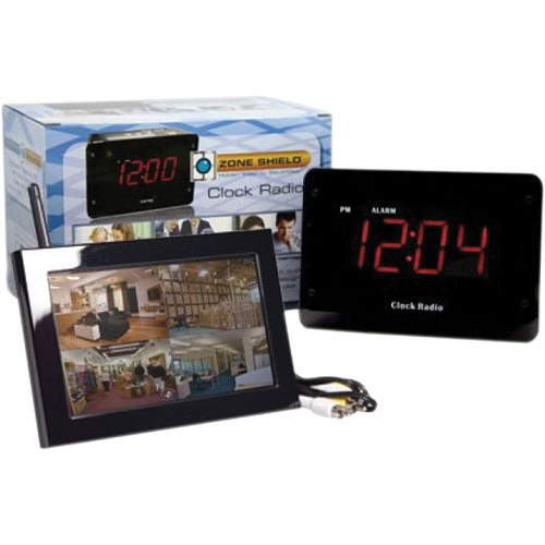 KJB Security Products C1530 SleuthGear Clock Radio with QUAD LCD Receiver