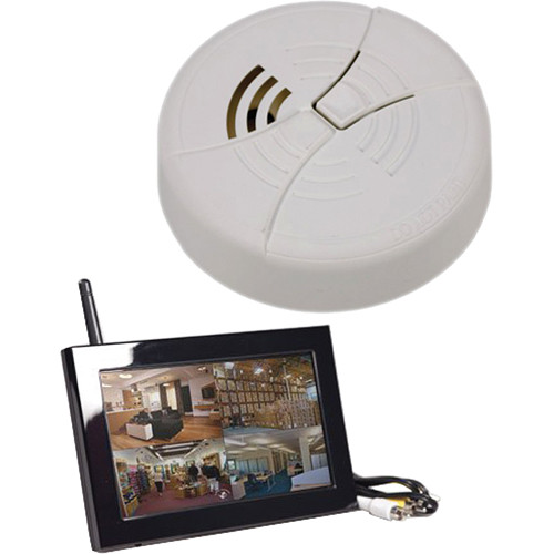 KJB Security Products C1540 Zone Shield Wireless Smoke Detector with QUAD LCD Receiver
