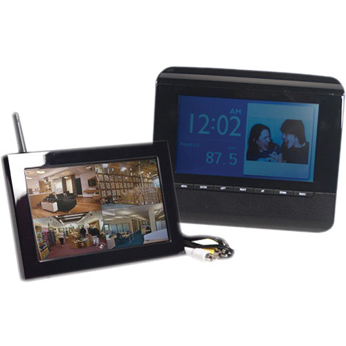 KJB Security Products C1550 Zone Shield Wireless Picture Frame with QUAD LCD Receiver
