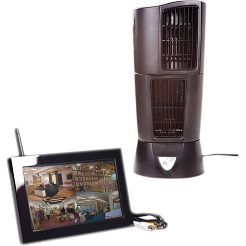 KJB Security Products C1565 Zone Shield Wireless Oscillating Fan with QUAD LCD Receiver