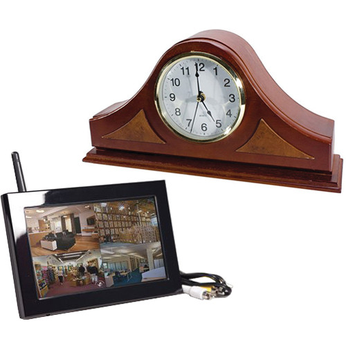 KJB Security Products C1570 Zone Shield Wireless Mantel Clock with QUAD LCD Receiver