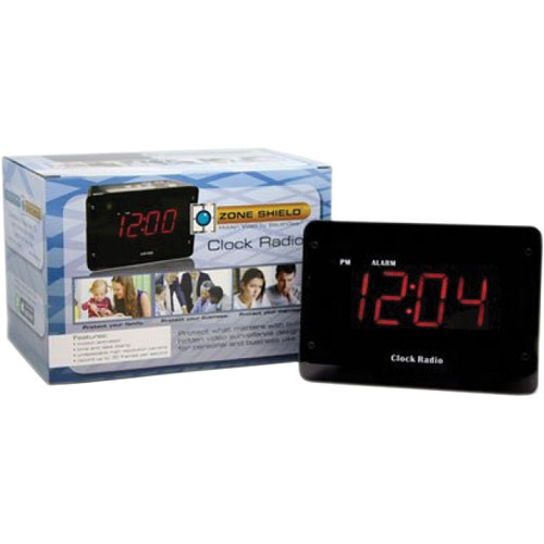 KJB Security Products SC9009C Sleuthgear Zone Shield Clock Radio Covert Color Camera with DVR