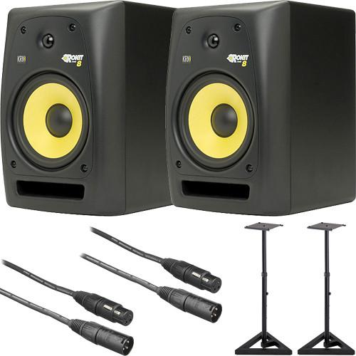 KRK RoKit 8 G2 Studio Monitors Bundle
