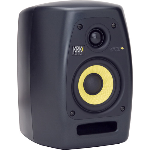"KRK VXT4 - 45W 4"" Two-Way Active Nearfield Studio Monitor (Single, Black)"