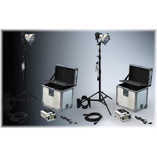 K 5600 Lighting Joker-Bug 200W HMI 1 Case News Pair Kit (90-250VAC / 14.4-30V DC)