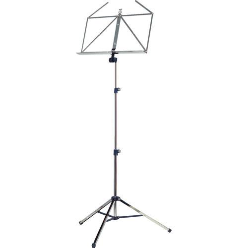 K&M 10065 Three-Piece Music Stand (Nickel)
