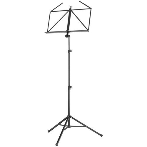 K&M 10065 Three-Piece Music Stand (Black)