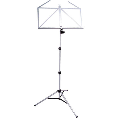 K&M 10065 Three-Piece Folding Sheet Music Stand (Silver Shadow)