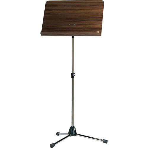 K&M 118/1 Orchestra Music Stand with Walnut Desk
