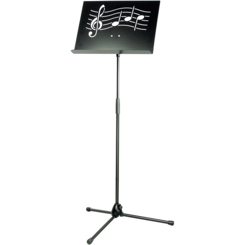 K&M Symphony Black Music Stand with Steel Desk