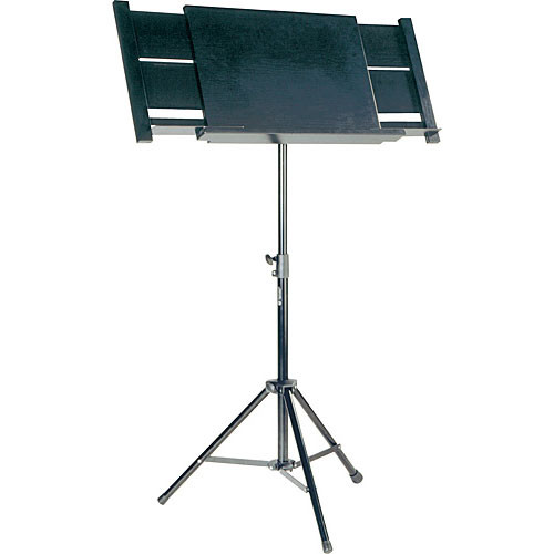 K&M 12342 Orchestra Conductor Music Stand (Black)