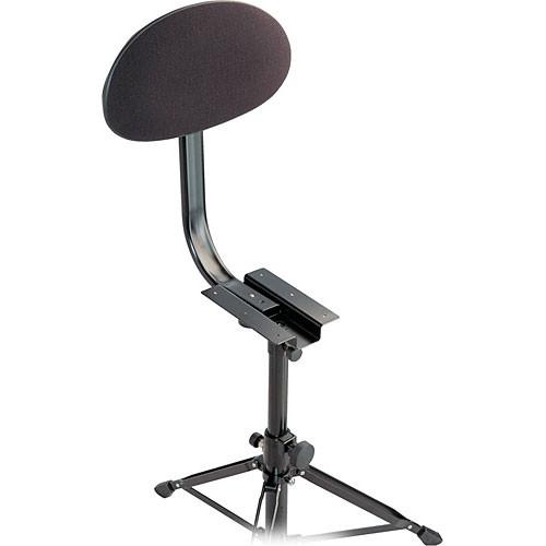 K&M 14043-000-55 Backrest for Drummer's Throne (Black Fabric)