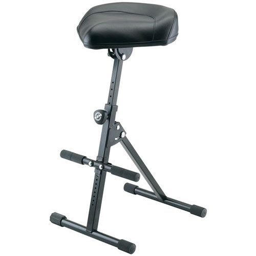 K&M 14047 Musician's Stool (Black  Leather)