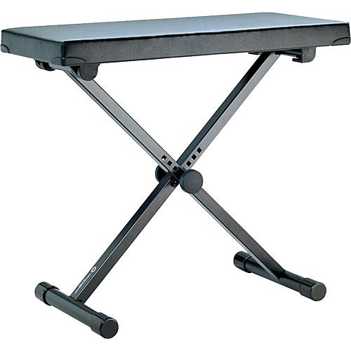 K&M 14076 Keyboard Bench (Black) (Extra Wide)