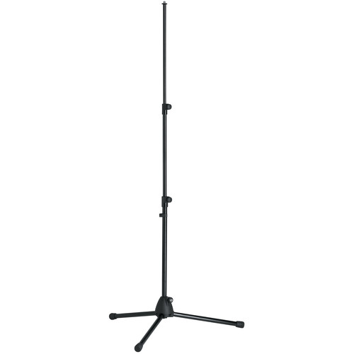 """K&M 19900B Telescoping Microphone Stand and Tripod Base - Measures 24.60 to 58.26"""" (625 to 1480mm) (Black)"""