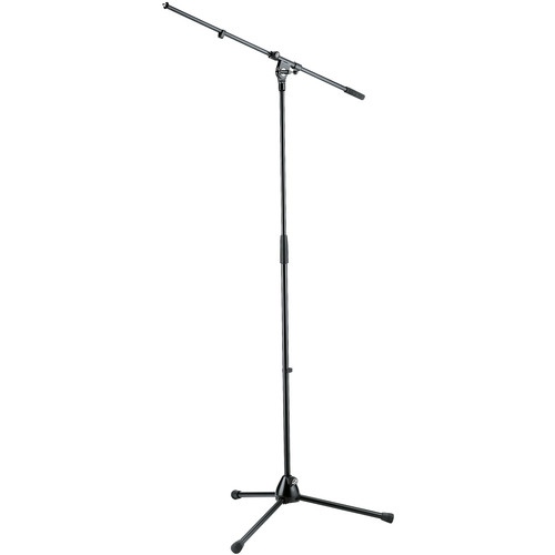 K&M 21020 Tripod Microphone Stand with Boom (Black)