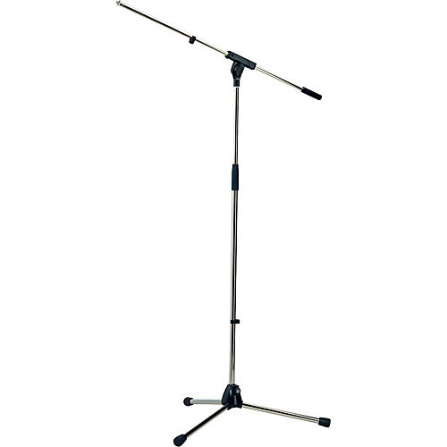 "K&M 210/6 Tripod Microphone Stand with 32"" Boom (Nickel)"