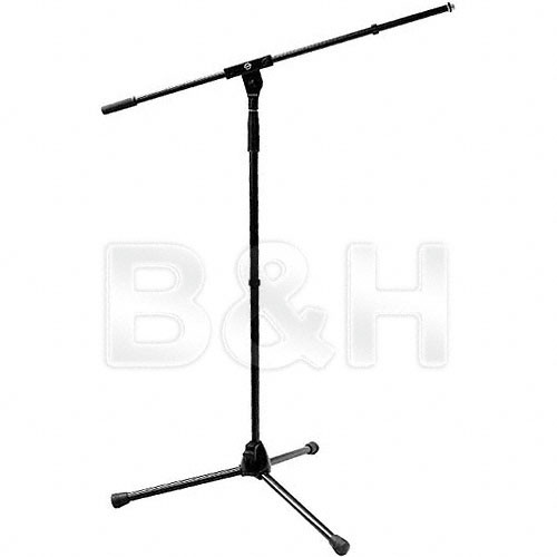 "K&M 210/6 Tripod Microphone Stand with 31.6"" Boom (Black)"