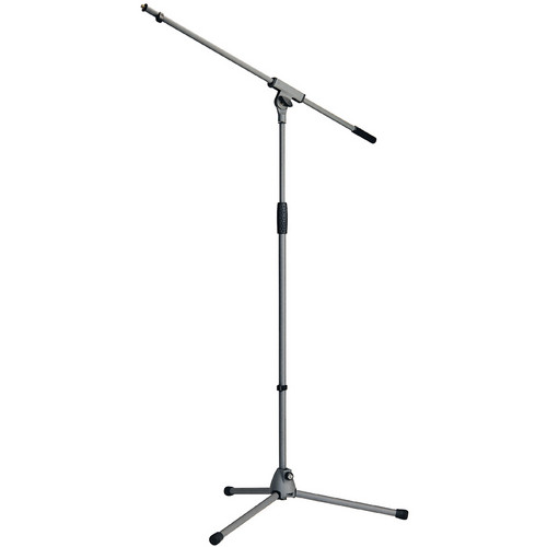 K&M KM21060 Microphone Boom Stand (Soft-Touch Gray)