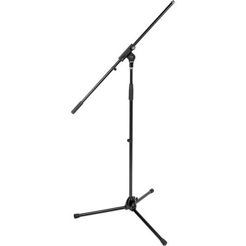 "K&M 21070 Tripod Microphone Stand with 32"" Boom (Black)"