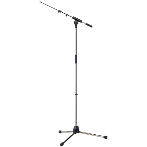 K&M 210/8 Telescoping Tripod Microphone and Boom (Black)