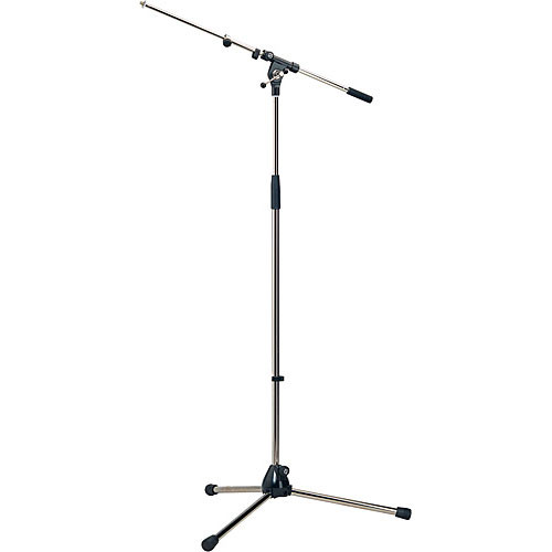 K&M 210/9 Tripod Microphone Stand with Telescoping Boom (Nickel)