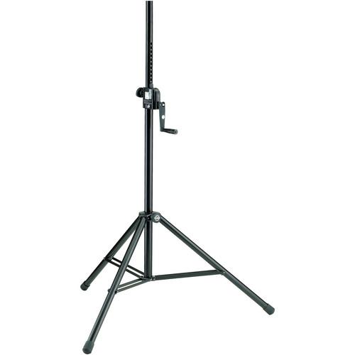 K&M 213 Hand Crank Speaker Stand (Black)