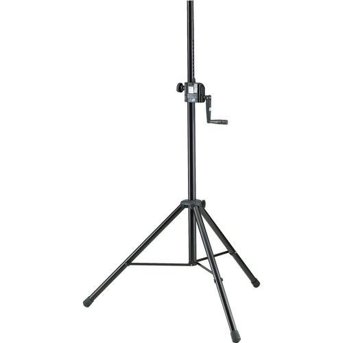 K&M 21302 Hand Crank Speaker Stand (Black)