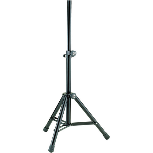 K&M 21455 Medium Height Adjustable Speaker Stand (Black)