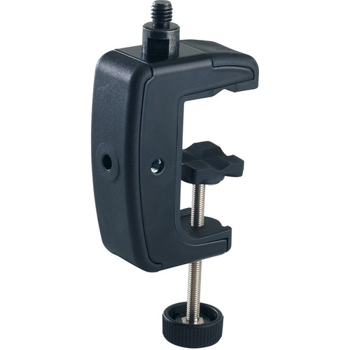 "K&M 23720 Table Clamp (Black, 1/4"")"