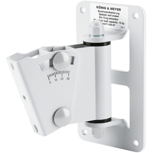 K&M 24471 Speaker Wall Mount (White)