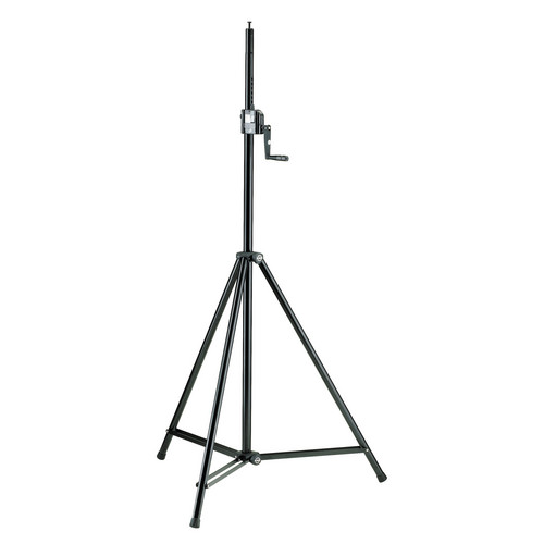 K&M 246/1 Hand Crank Lighting & Speaker Stand (Black)