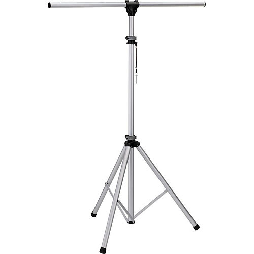 K&M Aluminum Stand with 4' Crossbar (Silver, 9.8')