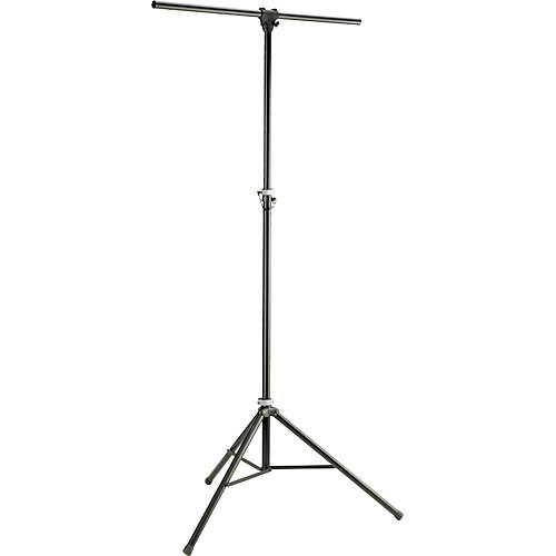 K&M Aluminum Stand with 4' Crossbar (Black, 9.8')