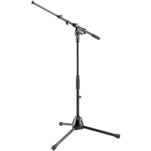 K&M 259 Low Tripod Microphone Stand with Boom Arm (Black)