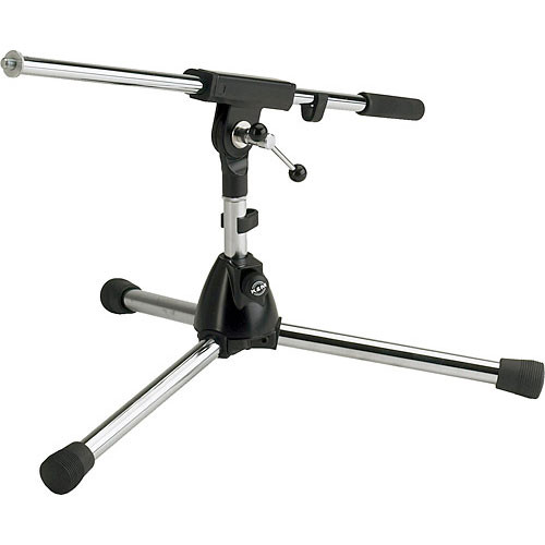 K&M 259/1 Extra Low Microphone Stand with Boom Arm (Gray)