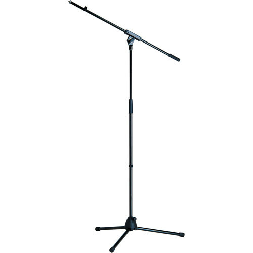 """K&M Tripod Microphone Stand with Boom - Height: 35.50 - 63.50"""" (90.17 - 161.29cm) (Black)"""