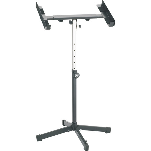 K&M 28075 Heavy-Duty Amplifier/Mixer Stand (Black)