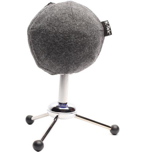 K-Tek Topper Windscreen for the Blue Snowball Microphone (Grey Fleece)