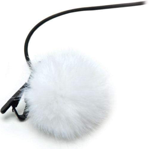 K-Tek KTFLTW - Fuzzy Topper Windscreen for Lavalier Microphones (White )