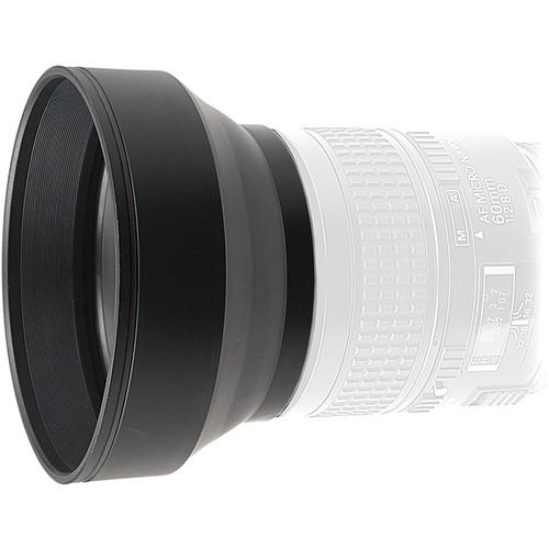 Kaiser 58mm 3-in-1 Rubber Lens Hood