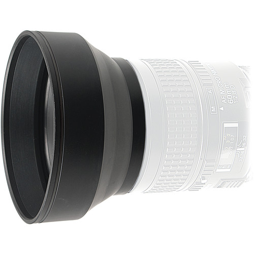 Kaiser 58mm 3-in-1 Rubber Lens Hood