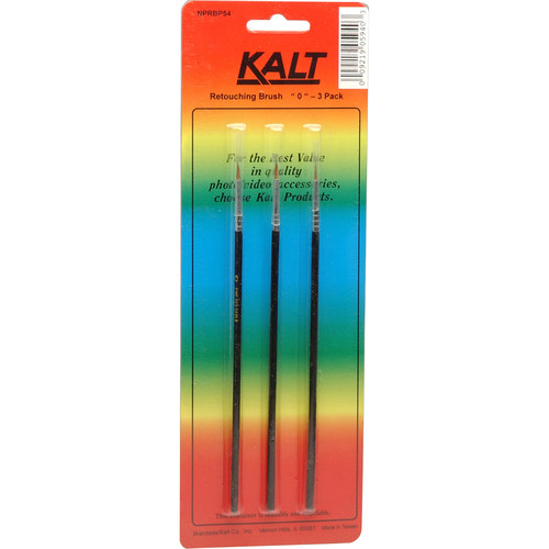 Kalt Sable Retouching Brush #0 (3-Pack)