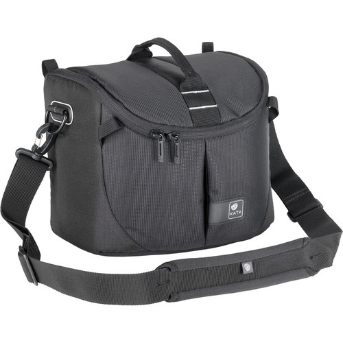 Kata Lite-443 DL Shoulder Bag for a Pro DSLR with Zoom in Shooting Position or Camcorder (Black)