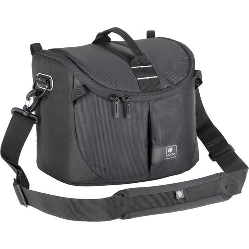 Kata Lite-443 DL Shoulder Bag for a Pro DSLR with Zoom in Shooting Position or Camcorder (Black)