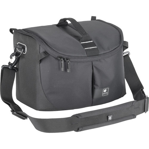 Kata Lite-445 DL Shoulder Bag for a Pro DSLR with Zoom in Shooting Position or Camcorder (Black)