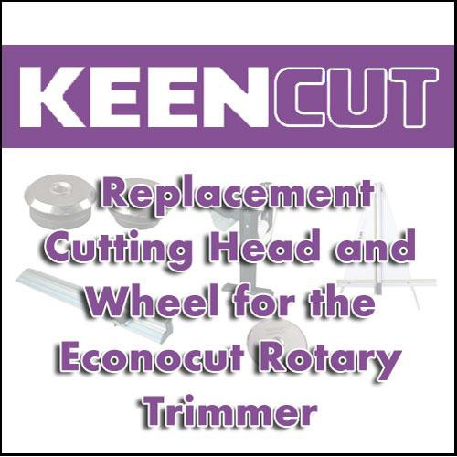 KeenCut 60207 Replacement Cutting Head and Wheel for the Econocut Rotary Trimmer